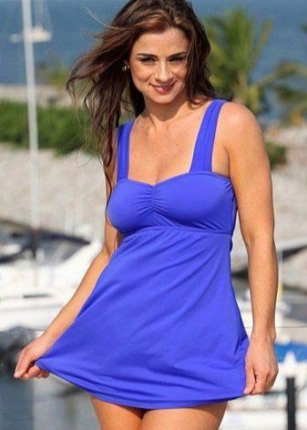 Купальное платье лавандового цвета