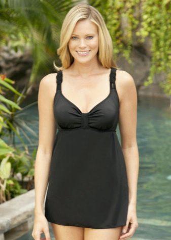 Короткое купальное платье