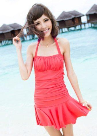 Купальное платье миди