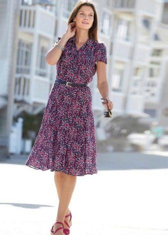 Ситцевое платье-халат