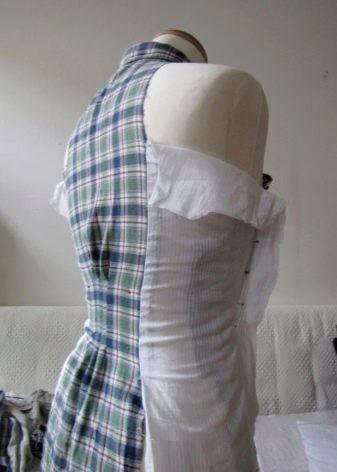 Моделеирование боков на платье