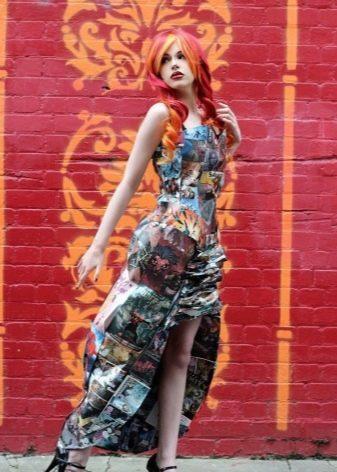 Платье из журнала с разрезом