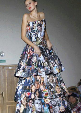 Платье из журнала многоярусное