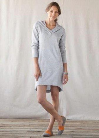 Платье-мешок с мокасинами