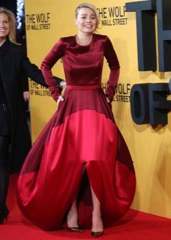 Длинный рукав на длинном платье с юбкой колокол