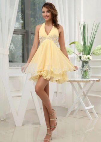 Двухслойное летнее платье с юбкой солнце