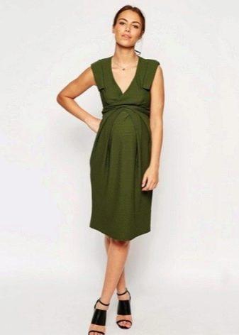 Платье-сарафан с запахом для беременых