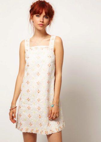 Хлопчатобумажное платье-сарафан