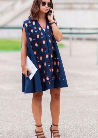 Платье-сарафан с принтом