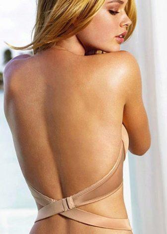 Бюстгальтер под платье с открытой спиной