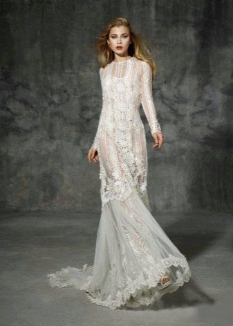 Платье  в стиле ретро белое