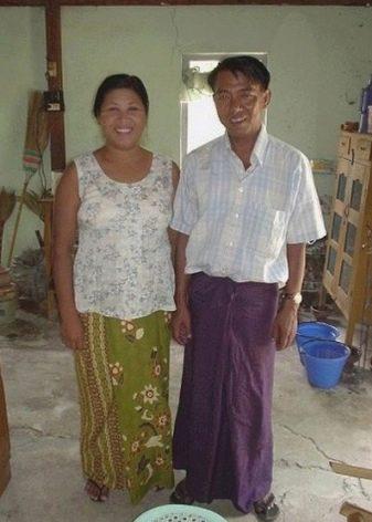Саронг для азиатских мужчин и женщин