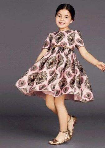 Летнее ретро- платье для девочек