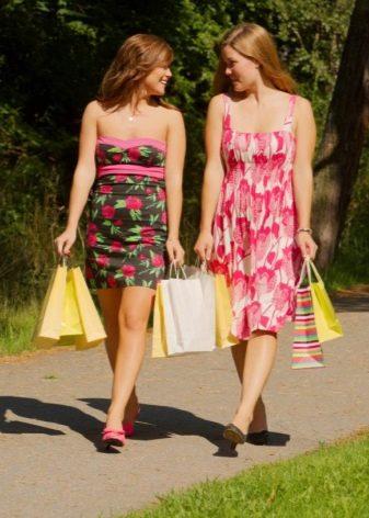 Летнее платье для девочек 12-14 лет повседневное