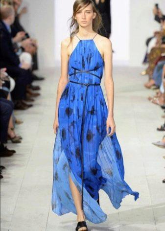 Модное синее платье сезона весна-лето 2016 года