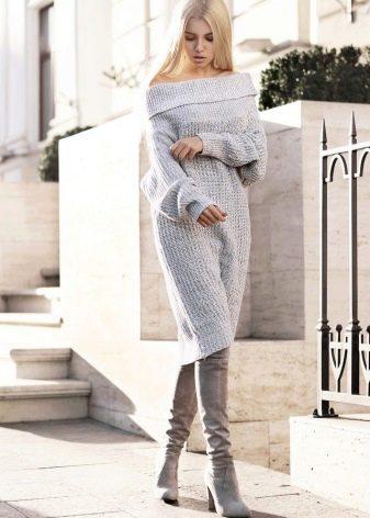 Модное платье-свитер сезона осень-зима 2016 года