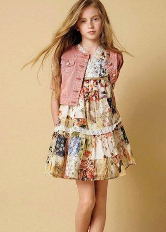 Платье для девочки 13-14 лет летнее