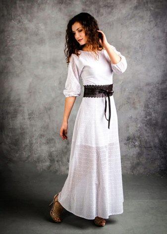 блинное батистровое платье