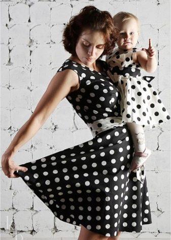 бязевые платья в горошек