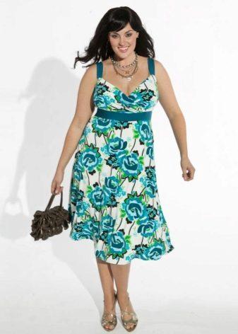 платье из бязи с крупным рисунком