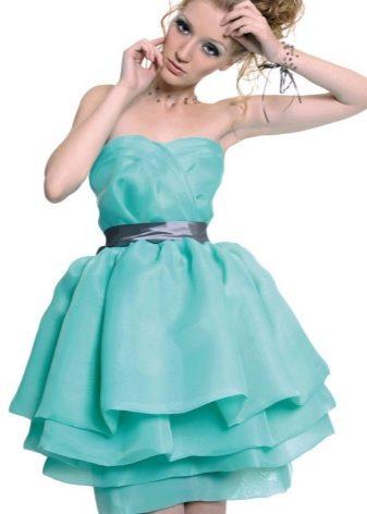 платье из органзы на выпускной