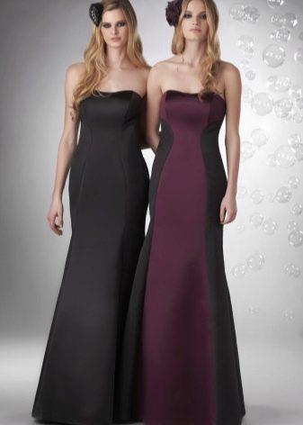 вечерние платья из сатина