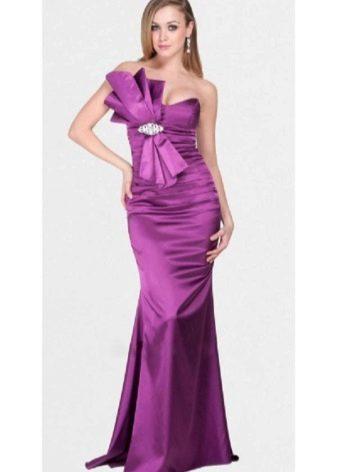лиловое платье из сатина
