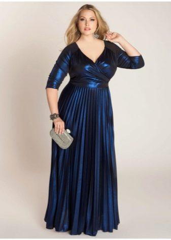 нарядное платье из сатина для полных женщин