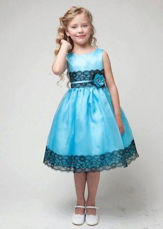 Выпускное голубое платье в детский сад