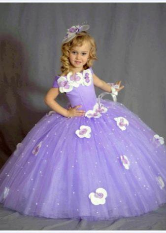 Выпускное платье в детский сад фиолетовое