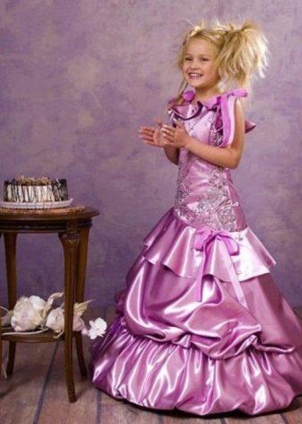 Выпускное платье в детский сад лиловое