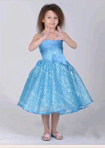 Выпускное платье в детский сад голубое