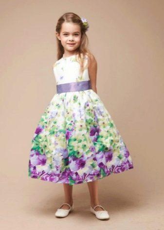 Выпускное платье в детский сад с принтом