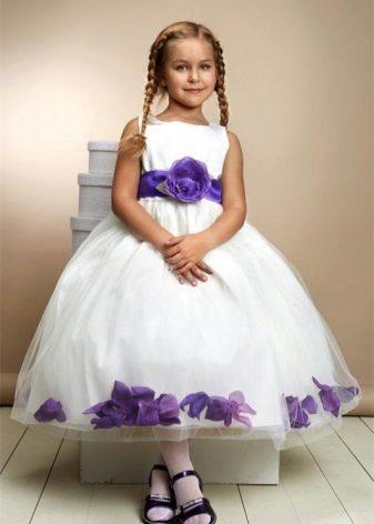 Выпускное платье в детский сад с цветочным принтом
