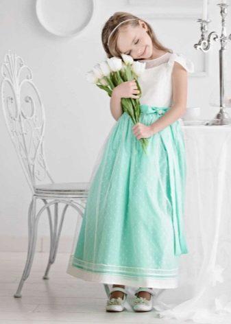 Выпускное платье в детский сад бирюзовое