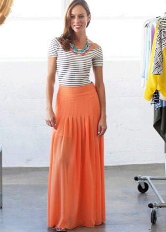 Длинная юбка полусолнце для девушек с фигурой песочные часы