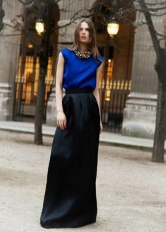 черная юбка в вечернем ансамбле