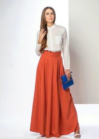 классическая длинная летняя юбка