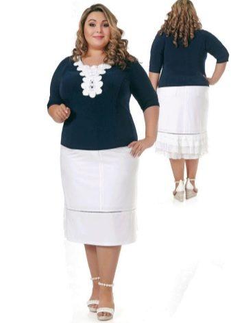 элегантная юбка-карандаш для полных женщин