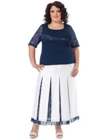 А-образная юбка-плиссе для полных женщин