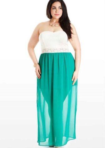 легкая юбка из шифона для полных женщин
