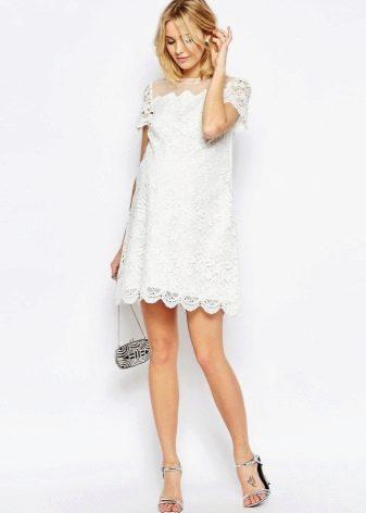Простое свадебное платье для беременных