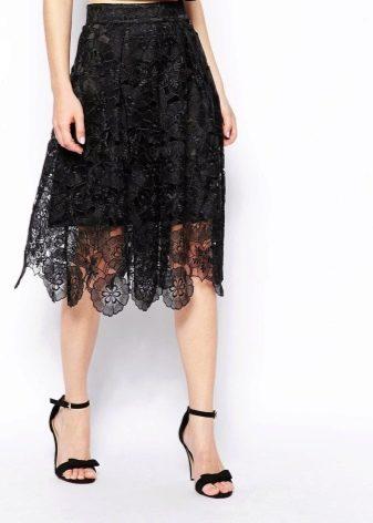 Кружевная юбка на лето