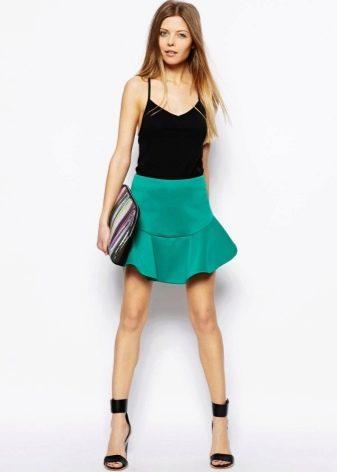Мини юбка яркого цвета