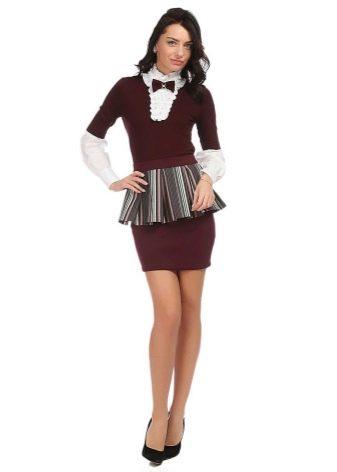 микро юбка с воланом на поясе