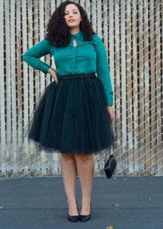 Многослойная юбка для полных