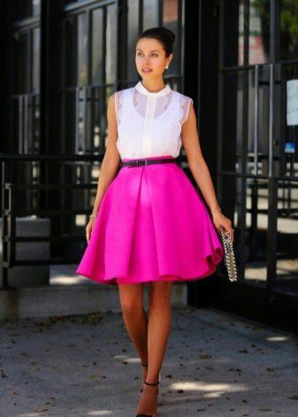 Многослойная юбка миди
