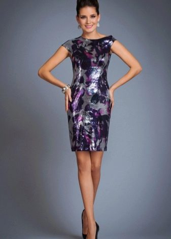 платье-футляр из тафты
