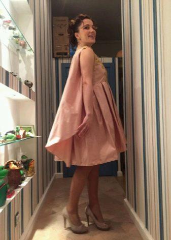 персиковое платье из тафты на выпускной