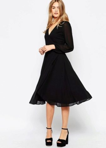черная юбка-миди